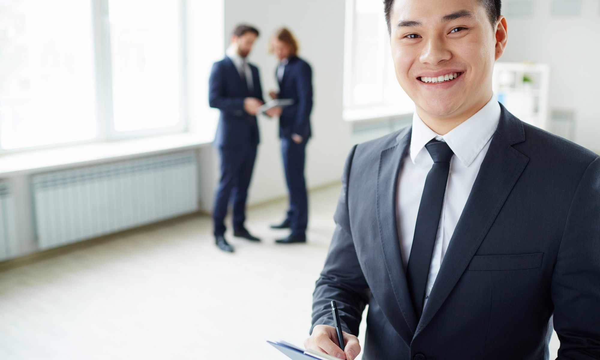 Young manager with management skills